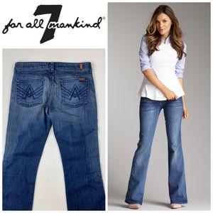 7FAM A Pocket Flare Leg Jeans👖